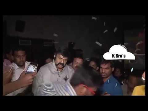 Balakrishna Throws Away Fan Iphone At Gautamiputra Satakarni Premier
