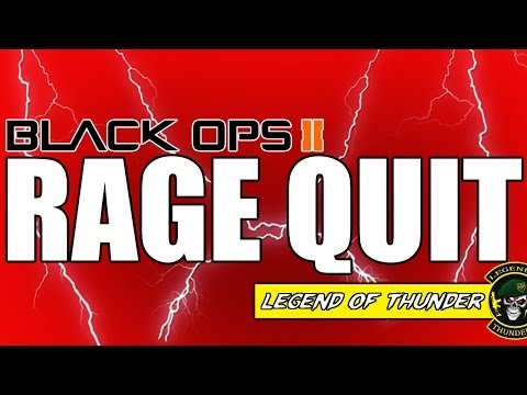 Black Ops 2 | RED SCREEN RAGE QUIT! (BO2 Multiplayer)