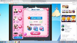 Candy Crush Saga level 1689! NO BOOSTERS