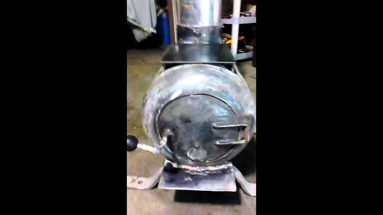 Propane tank woodstove homemade by me - Propane Tank Woodstove Homemade By Me - YouTube