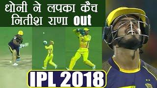 IPL 2018 KKR vs CSK: MS Dhoni takes a stunning ...