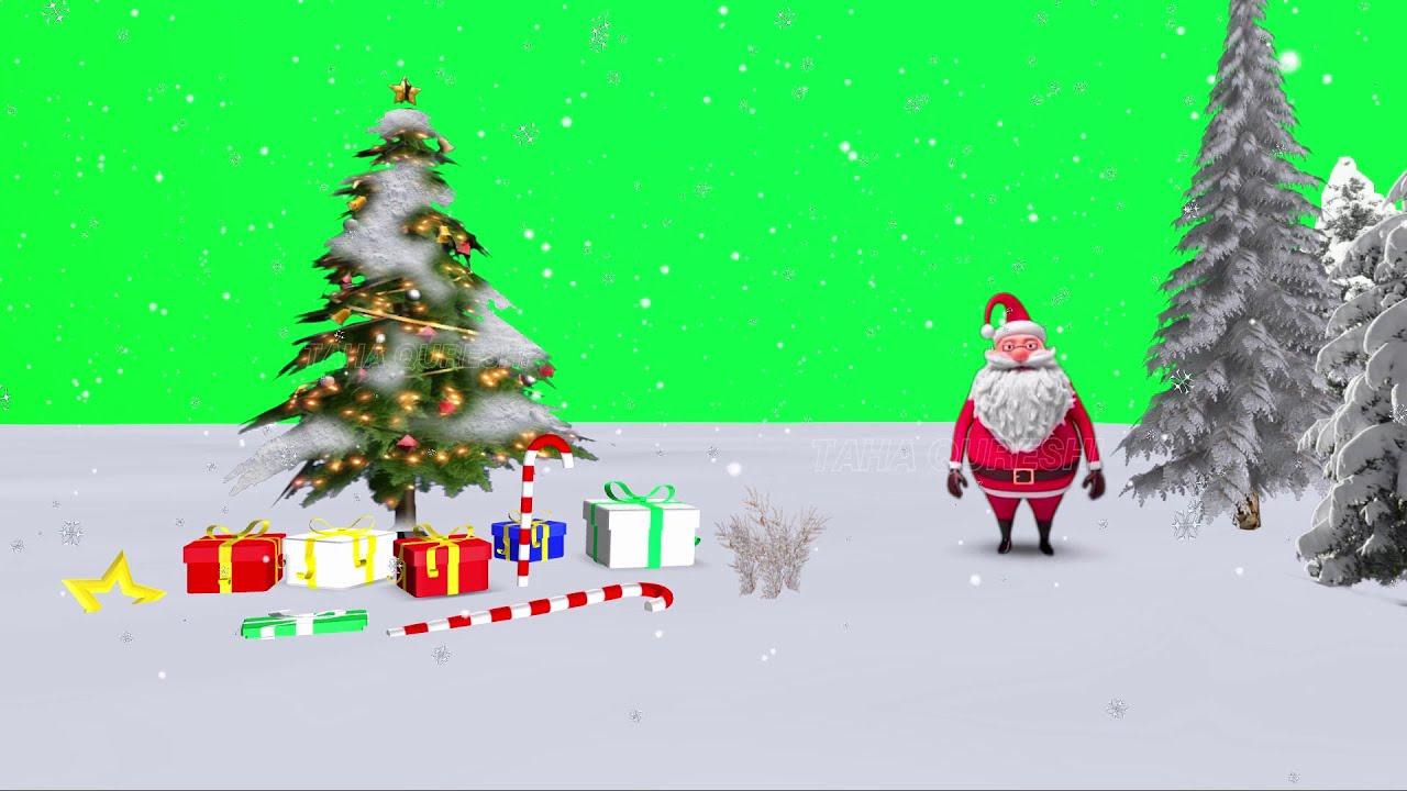 Christmas Animated Tree & Santa Claus | 2019 Green Screen ...