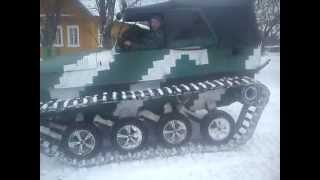 Самодельный вездеход Уаз на гусеницах зима 2