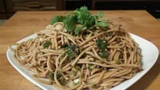 How To Serve Soba Noodle Salad And Sesame Dressing