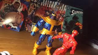The Flash, Batman, and Superman vs Thanos