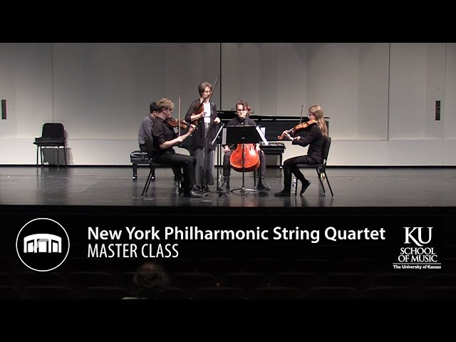 New York Philharmonic String Quartet master class—Beyond the Stage