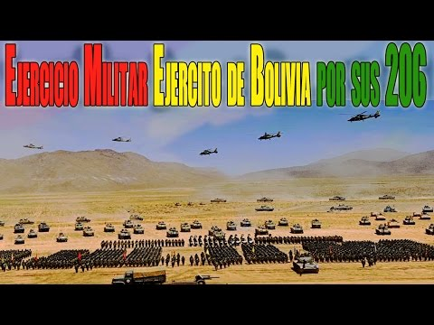 Ejército Boliviano Muestra Capacidad de Combate en su 206 Aniversario
