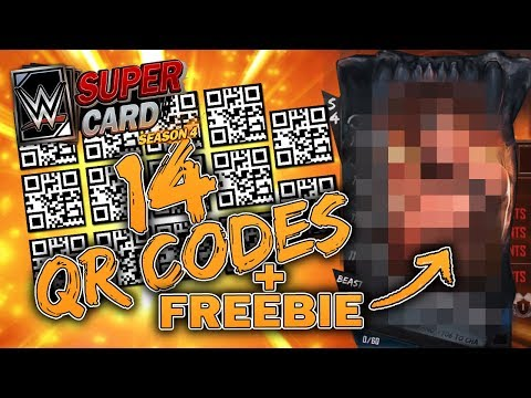 14 QR CODES & MY FREEBIE - WWE SuperCard Season 4