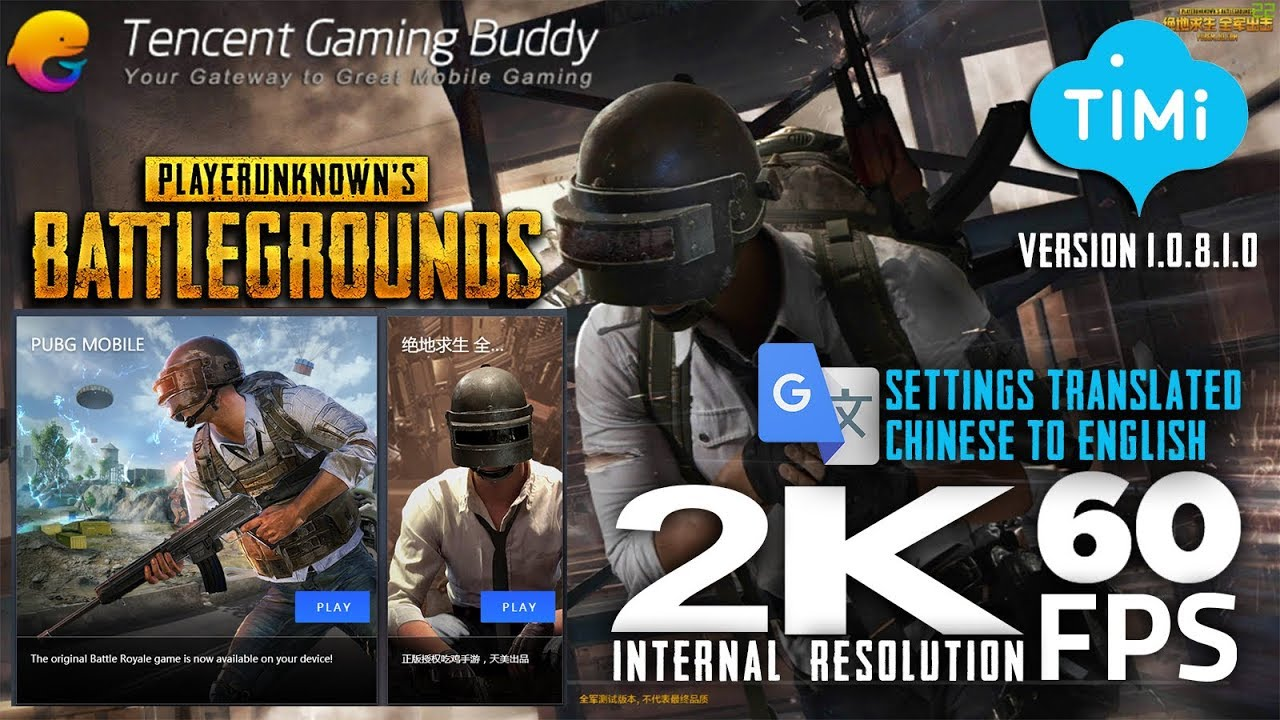 Pubg Mobile Ultra Hd Tencent Gaming Buddy: PUBG Mobile Timi Studios Settings Translated To English