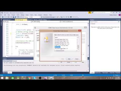 MFC Application Connection To SQL SERVER Using ADO(vc++)