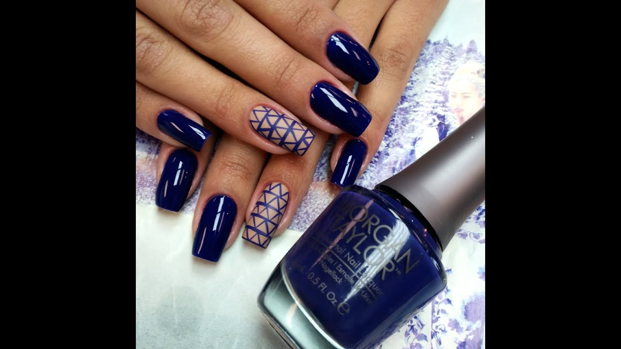 Ultra Violet Nail Art - YouTube