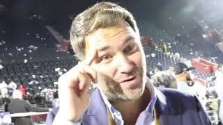'SHOW THE F******* RESPECT' - BUZZING EDDIE HEARN REACTS TO JOSHUA BEATING RUIZ, BECOMING 2 X CHAMP