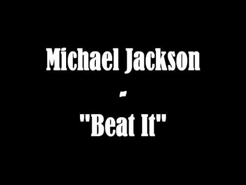 Michael Jackson - Beat it (instrumental/karaoke) + Lyrics