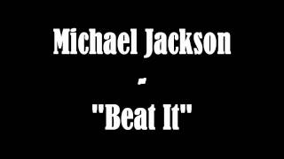 Michael Jackson - Beat it (instrumental/karaoke) + Lyrics
