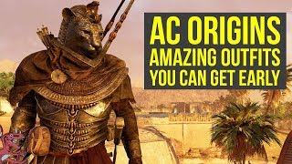 Assassin's Creed Origins Tips AMAZING OUTFITS YOU CAN GET EARLY IN THE GAME (AC Origins Outfits)