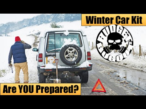 Winter Car Emergency Survival Kit IS YOUR FAMILY PREPARED