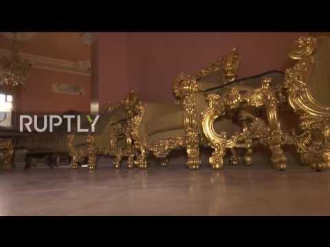 Syria: Luxurious furniture found inside war-ravaged buildings in elite Aleppo district