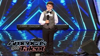 Video Adrian Romoff: 9-Year-Old Piano Player Wows Judges - America's Got Talent 2014 (Highlight) download MP3, 3GP, MP4, WEBM, AVI, FLV Oktober 2017