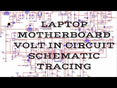Laptop Volt in Circuit Schematic tracing. Laptop Schematic Diagram Tracing