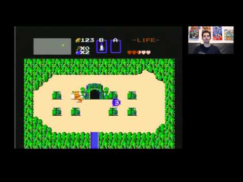 The Legend of Zelda (NES) No Sword 1st Quest with Mike Matei