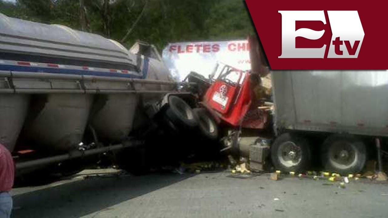 Matrimonio Accidente Trailer : Accidente de trailer en la autopista méxico querétaro