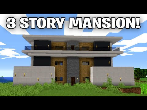 SIMASGAMER BUILDING A 3 STORY MANSION In MINECRAFT