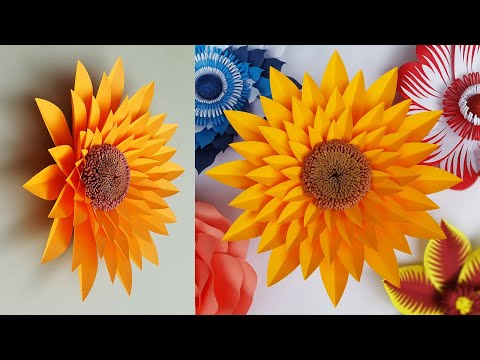 DIY-Paper Flowers | Easy Wall Decoration Ideas | Paper Flower Backdrop Tutorial | Paper Craft