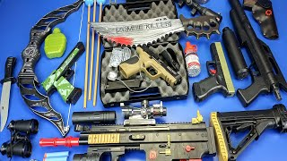 Box of Guns Toys ! SMITH & WESSON Military Airsoft Gun , Weapons to Fight Zombies