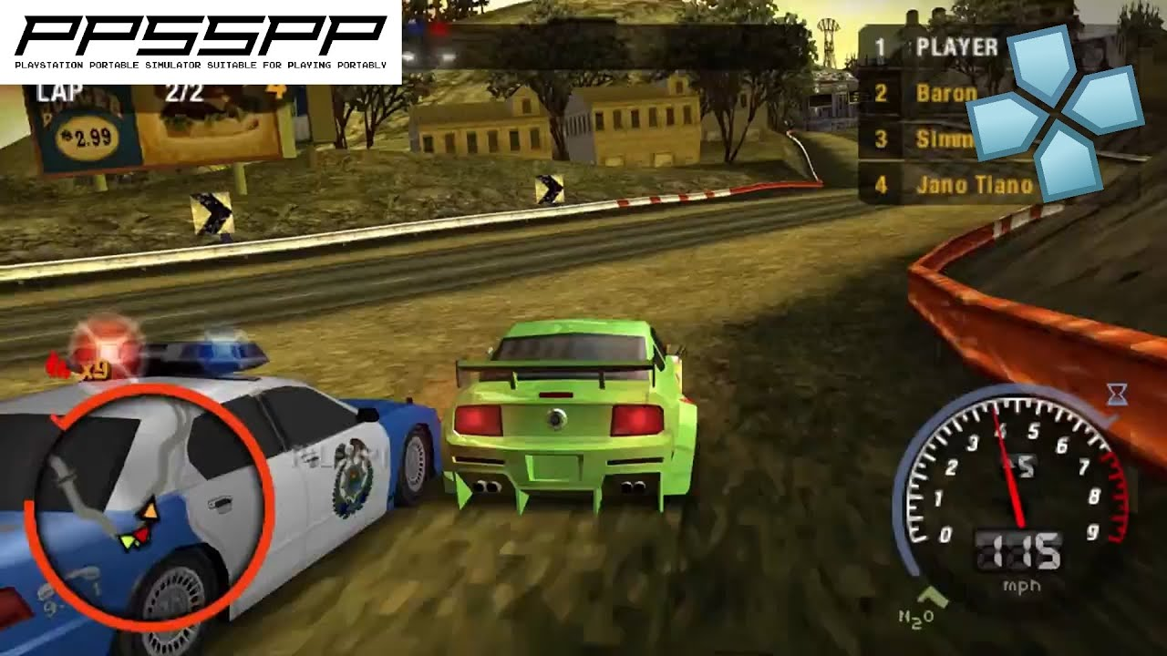 Need for speed most wanted 5 1 0 psp