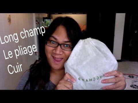 48545195c2b4 LongChamp Le Pliage Cuir Review - YouTube