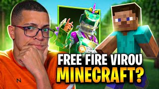 O FF VAI LANÇAR A SKIN DO MINECRAFT! JÁ TAMO ON NO FREEFIRE