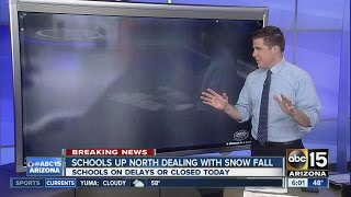 School delays or closures due to snow