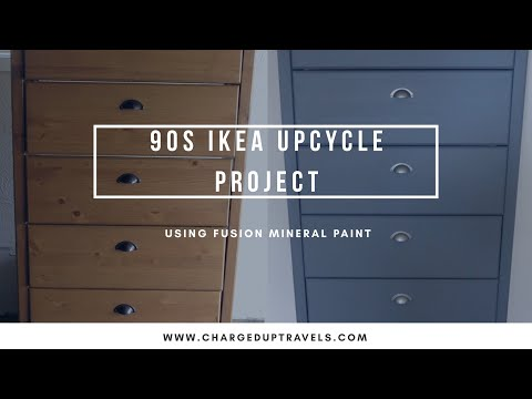 90s IKEA CD Cabinet Upcycle Project | CHARGED UP TRAVELS