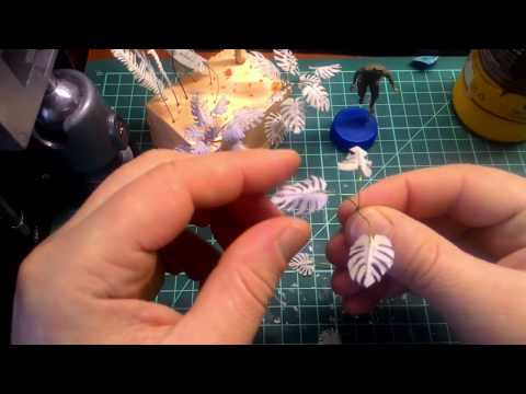 тропические растения для диорамы.часть 1.(монстера)/tropical plants for a diorama.part 1.(monstera)