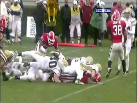 2008 GT-UGA Fumble Recovery and Jon Dwyer Touchdown with Georgia Radio Call