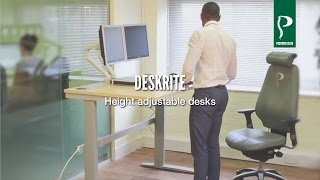 DeskRite Sit-Stand Height Adjustable Desks
