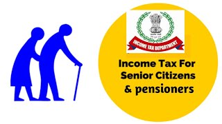 HOW TO FILE TAX RETURN FOR A PENSIONER & senior citizen |  AY2020-21,