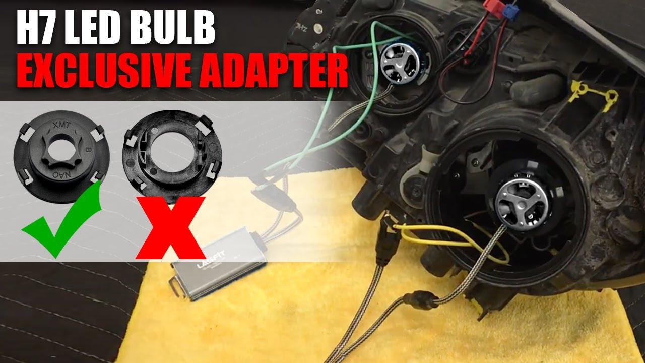New H7 Led Headlight Adapter Clip How To Install On 2017 Kia Sedona