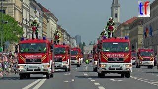 **WORLD RECORD** FIRETAGE PARADE München: Moderne Fahrzeuge Feuerwehr München, 29.05.2016.