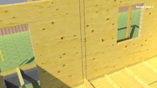 Перегородка из профилированного бруса(Устройство перегородки из профилированного бруса для дома из профилированного бруса эконом класса., 2013-04-14T17:44:12.000Z)