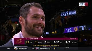 Kevin Love calls LeBron James a liar, then the King makes a cameo | CAVS-LAKERS POSTGAME