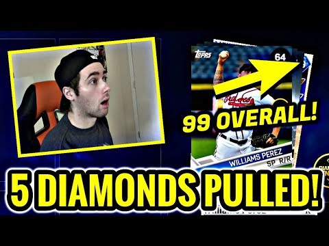 5 DIAMONDS PULLED!! THE SHOW'S FINEST PACKS! MLB THE SHOW 17 DIAMOND DYNASTY