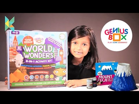 Genius Box Learning Toys for Children : World Wonders Activity Kit Kyrascope  Unboxing and Review