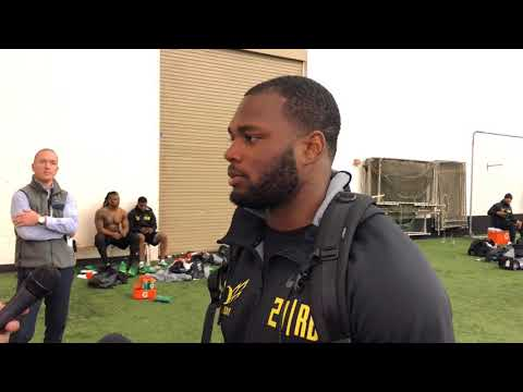 Royce Freeman is training in Eugene, taking things day by day a month before NFL Draft