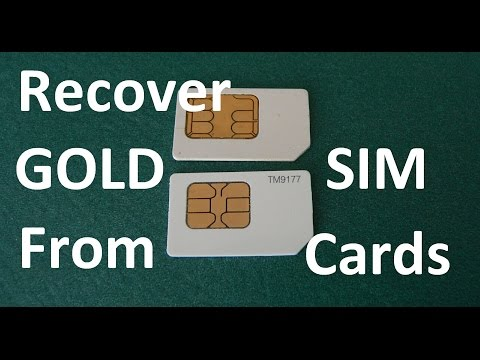 How To Recover Gold From Cell Phone Sim Cards EXPERIMENT