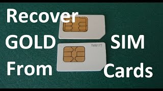 Repeat youtube video How To Recover Gold From Cell Phone Sim Cards EXPERIMENT