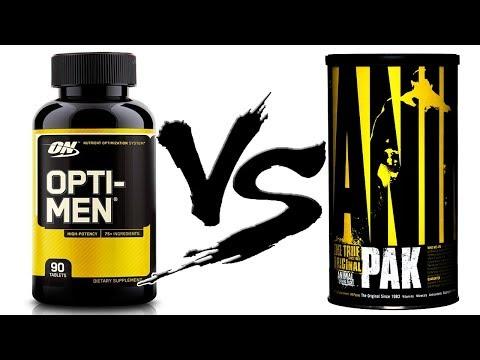 Opti-men или Animal Pak какие витамины лучше выбрать