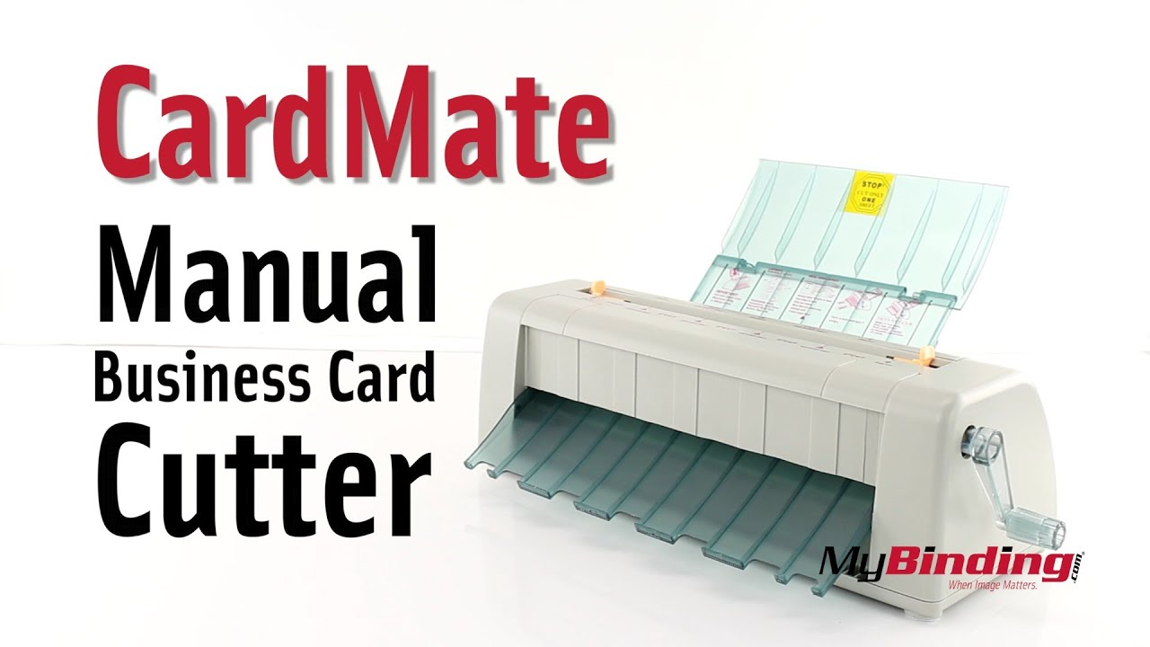 Cardmate Manual Business Card Cutter Youtube
