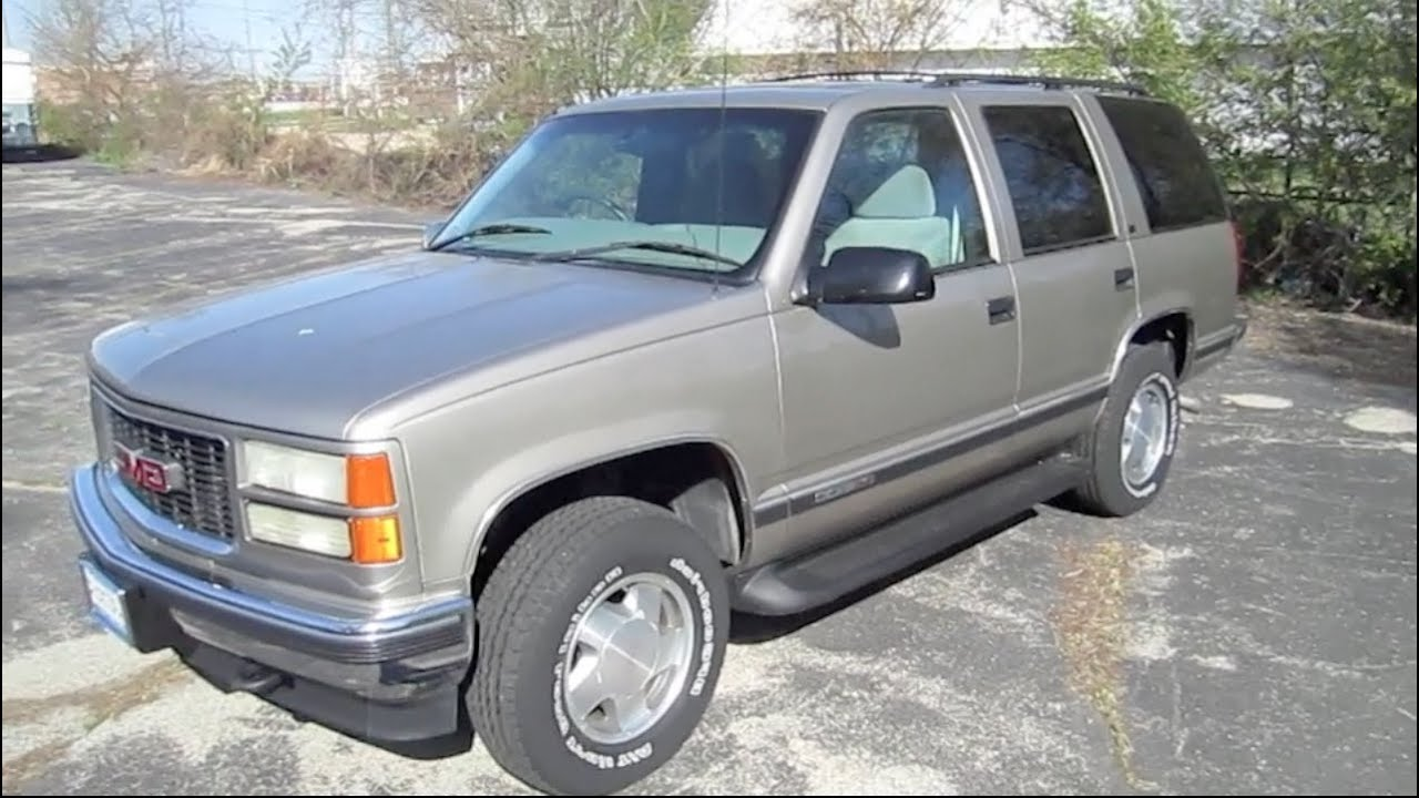 1999 GMC YUKON 5.7L V8 start up, walk around and review ...