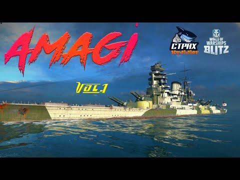 WOWS BLITZ Флот СТРАХ: Amagi VIII